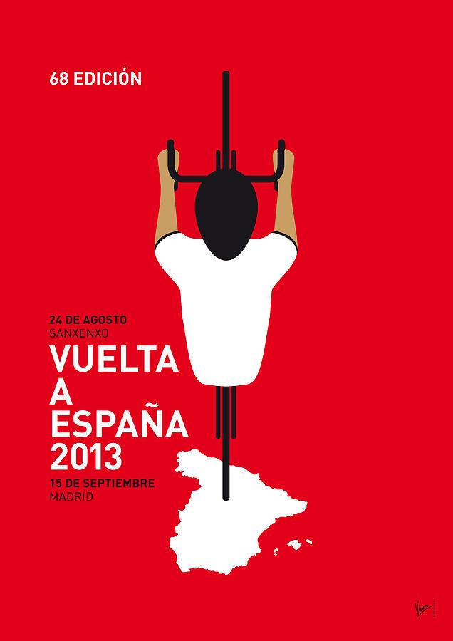 2013 Digital Art - My Vuelta A Espana Minimal Poster - 2013 by Chungkong Art
