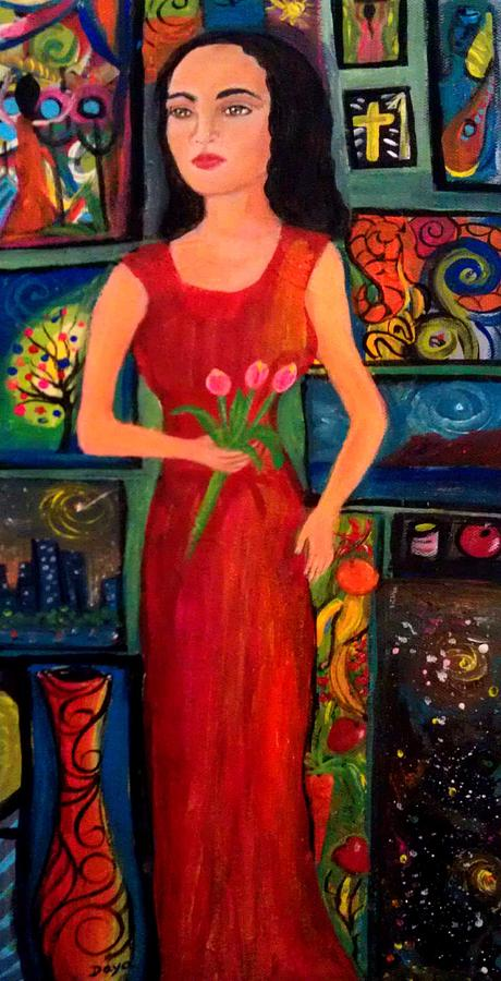 Figurative Painting - My World In The Art by Deyanira Harris
