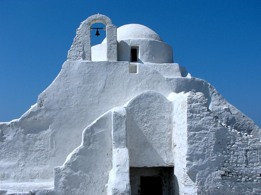 Mykonos Church Digital Art  - Mykonos Church Fine Art Print