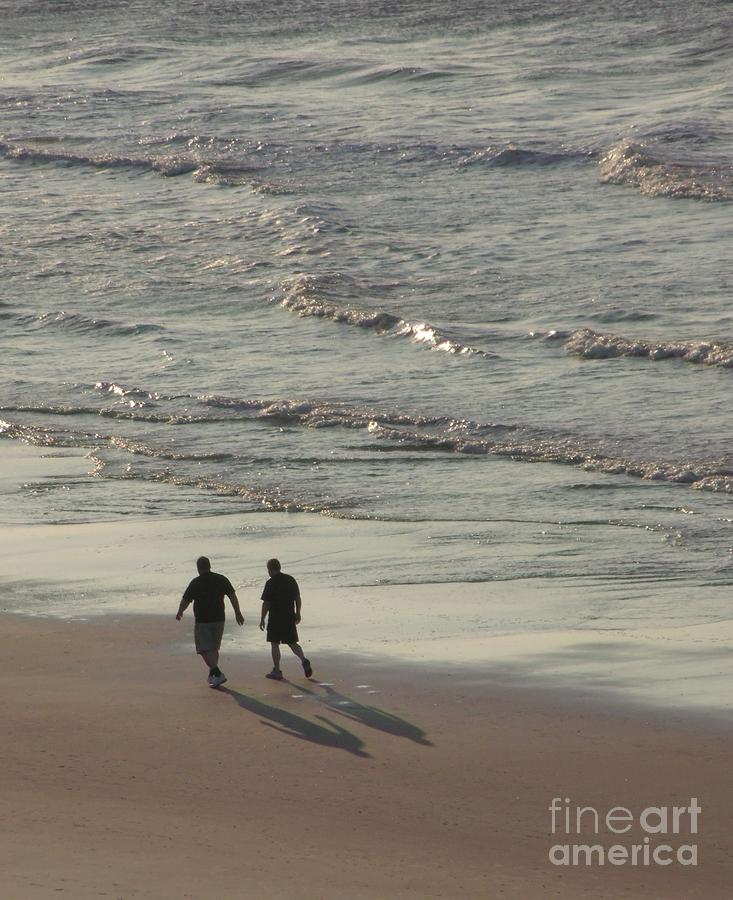 Myrtle Beach Walking Buddies Photograph  - Myrtle Beach Walking Buddies Fine Art Print