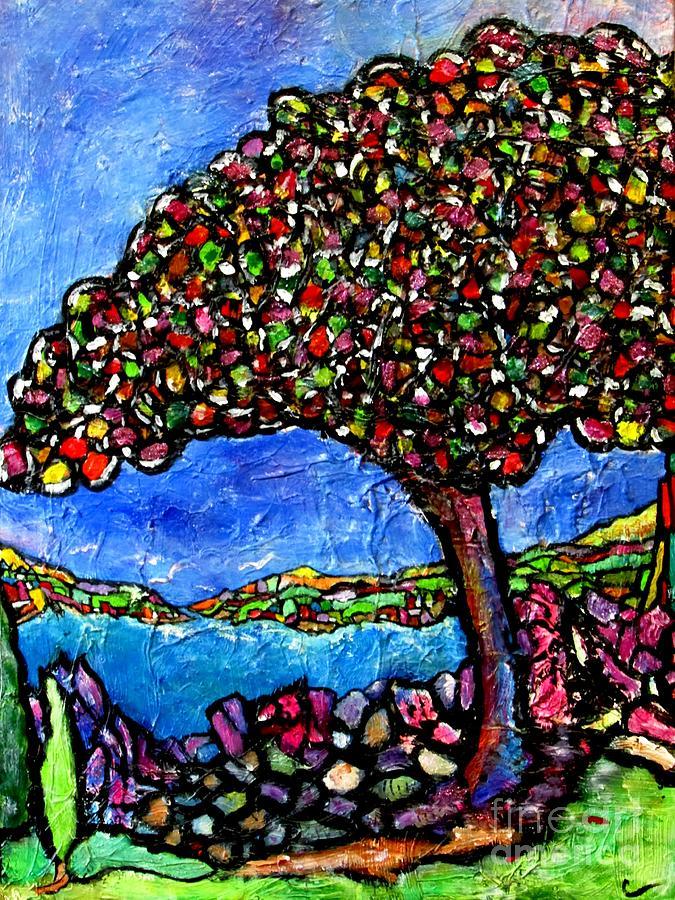 Landscape Painting - Myrtle Edwards Park by Chaline Ouellet