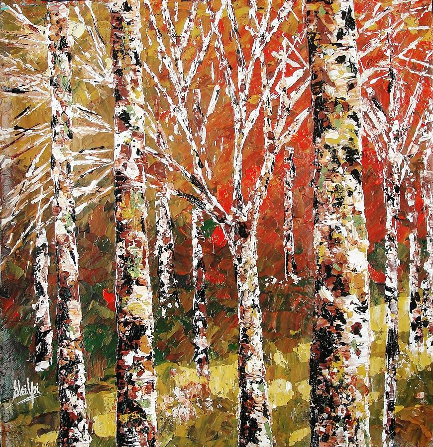 Mysterious Forest Painting  - Mysterious Forest Fine Art Print