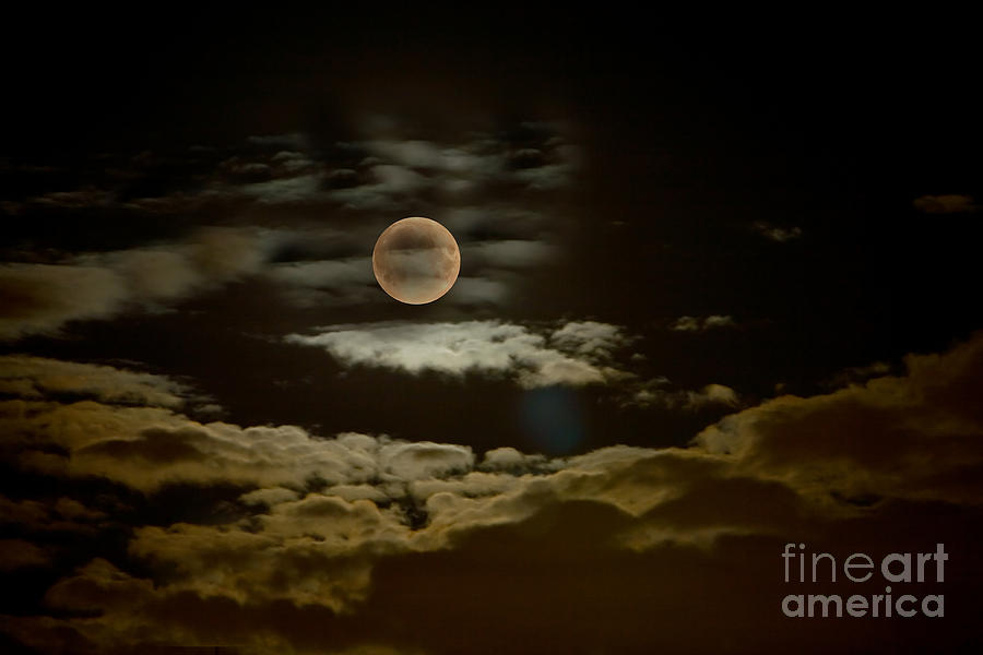 Mysterious Moon Photograph  - Mysterious Moon Fine Art Print