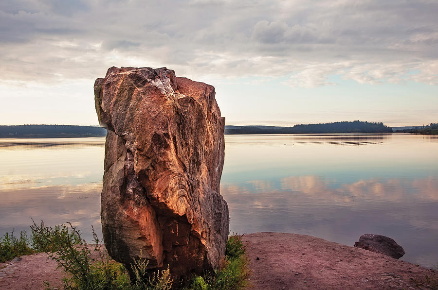Happy New Year Photograph - Mysterious Stone. Frontier In Between Old And New World by Jenny Rainbow