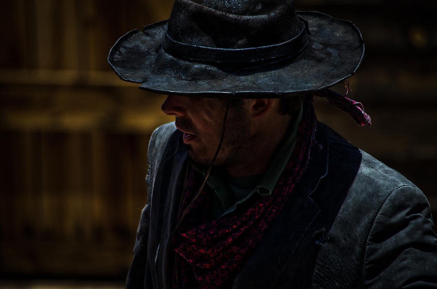 Cowboy Photograph - Mysterious by Swift Family