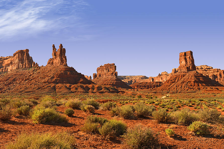 Valley Photograph - Mysterious Valley Of The Gods by Christine Till