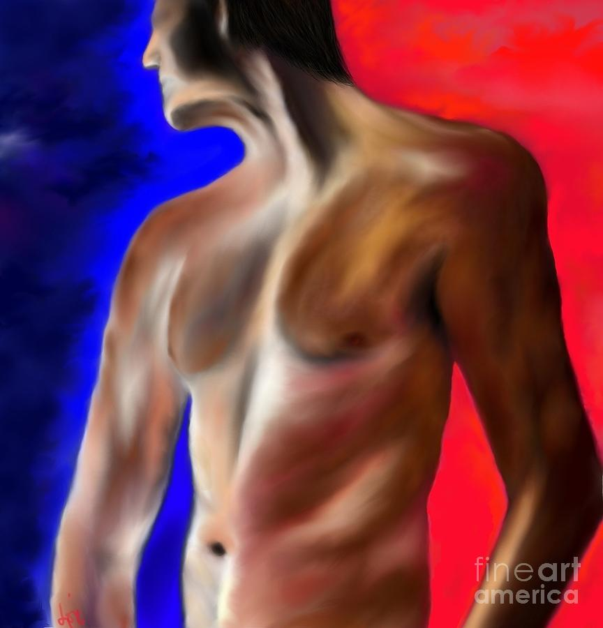 Nude Painting - Mystery Of A Man by Lori  Lovetere