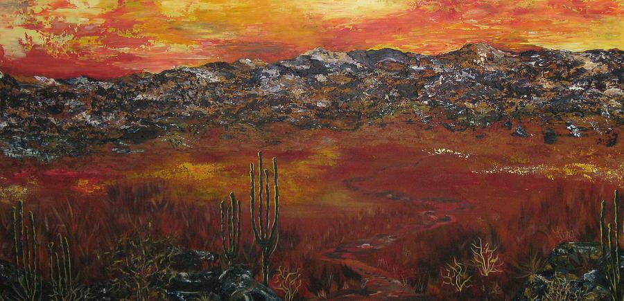 Mystic Desert Painting
