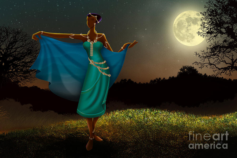 Mystic Moonlight V1 Digital Art  - Mystic Moonlight V1 Fine Art Print