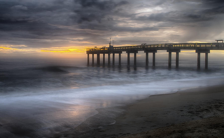 Mystic morning at st augustine fishing pier photograph by for St augustine fishing pier