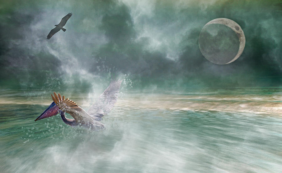 Mystical Beach Digital Art