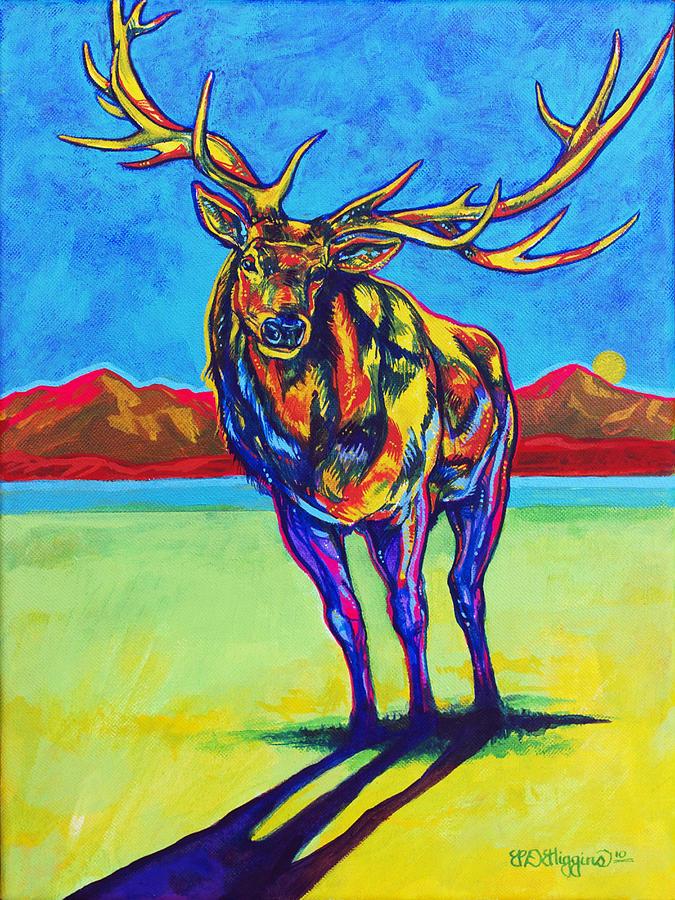 Elk Painting - Mythical Elk by Derrick Higgins
