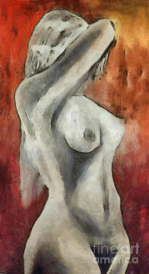 Naked Woman Mixed Media  - Naked Woman Fine Art Print