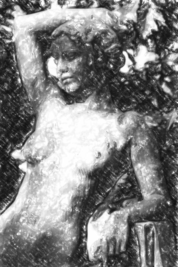 Ancient Mixed Media - Naked Woman by Toppart Sweden