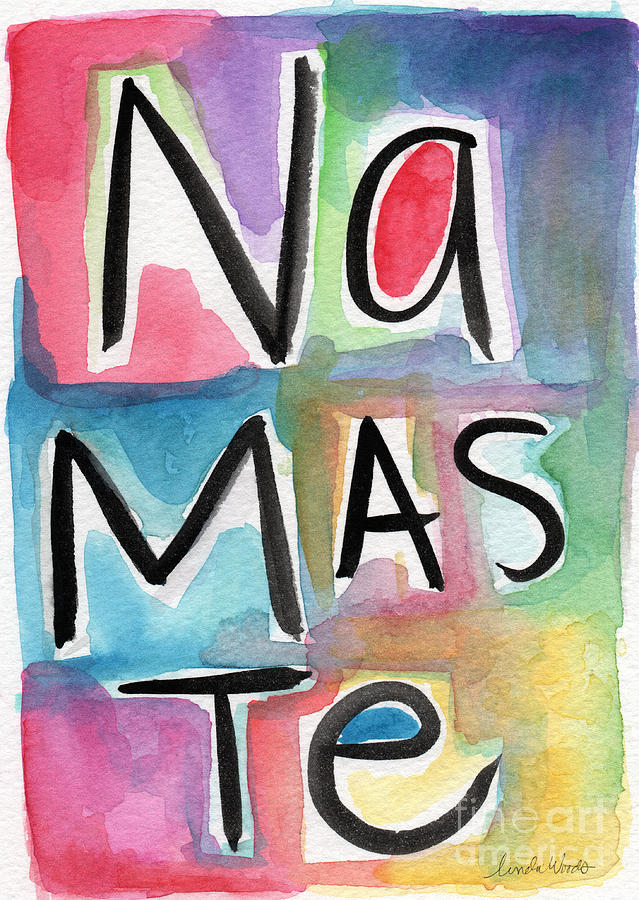 Namaste Watercolor Painting  - Namaste Watercolor Fine Art Print