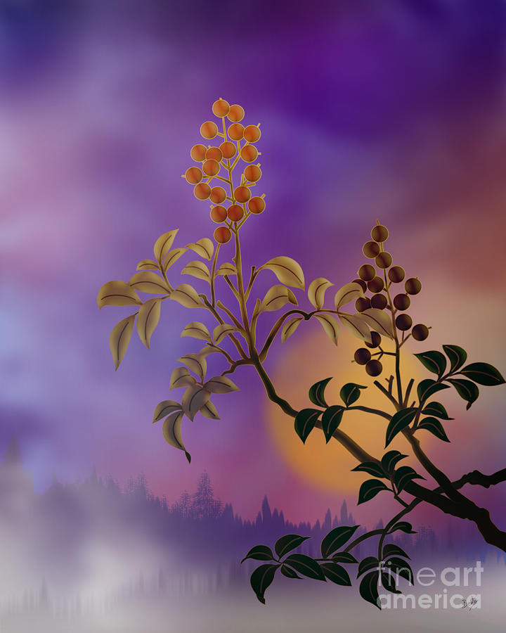 Nandina The Beautiful Digital Art  - Nandina The Beautiful Fine Art Print