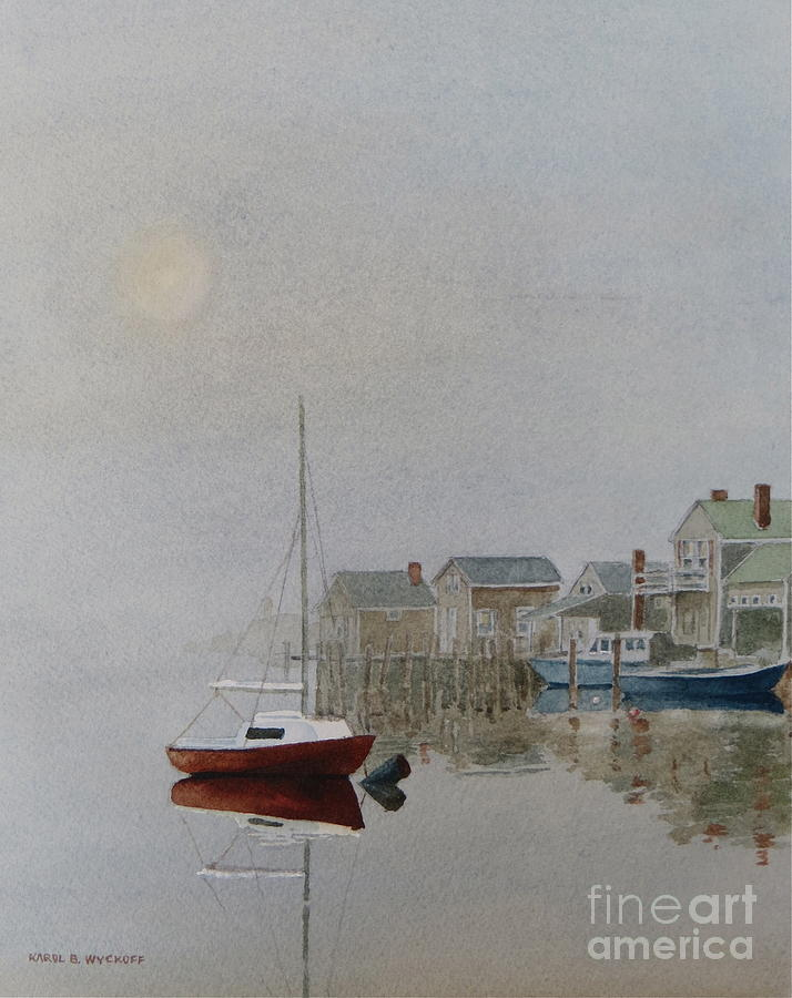 Nantucket Fog Painting