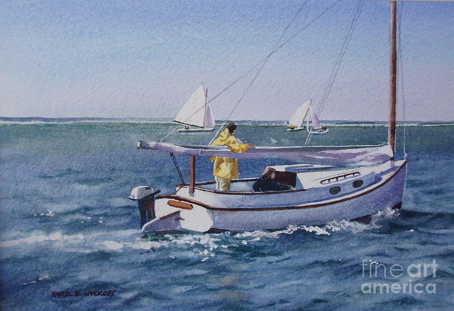 Nantucket Sound Catboat Painting