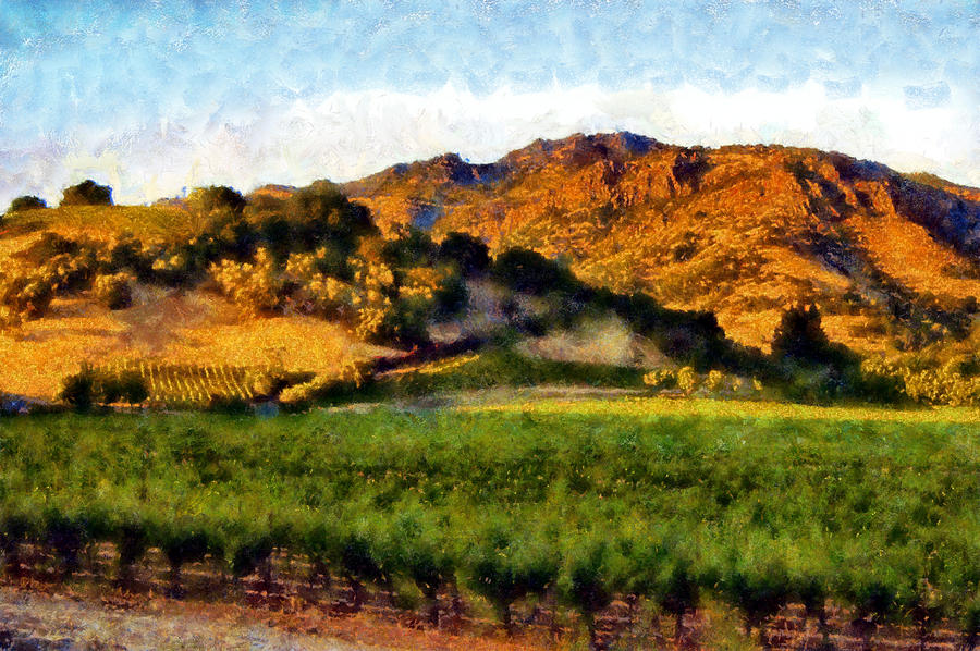 Napa Digital Art - Napa Valley by Kaylee Mason