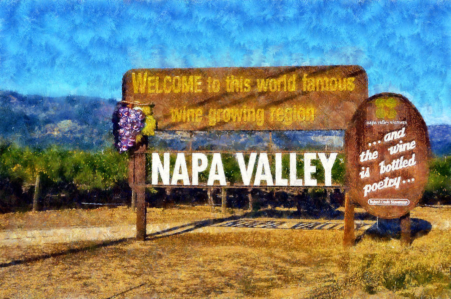 Napa Valley Sign Digital Art - Napa Valley Sign by Kaylee Mason