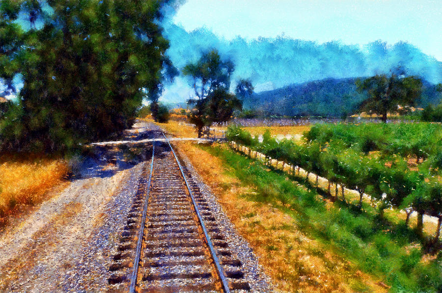 Napa Valley Tracks Digital Art