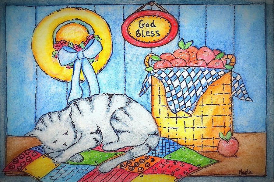 Naptime Kitty Painting