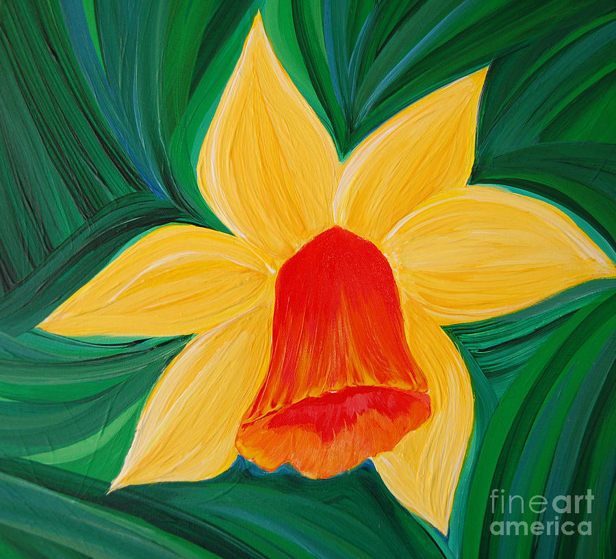 Narcissus Diva By Jrr Painting