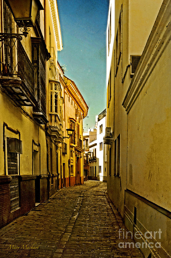 Narrow Street In Seville Photograph  - Narrow Street In Seville Fine Art Print