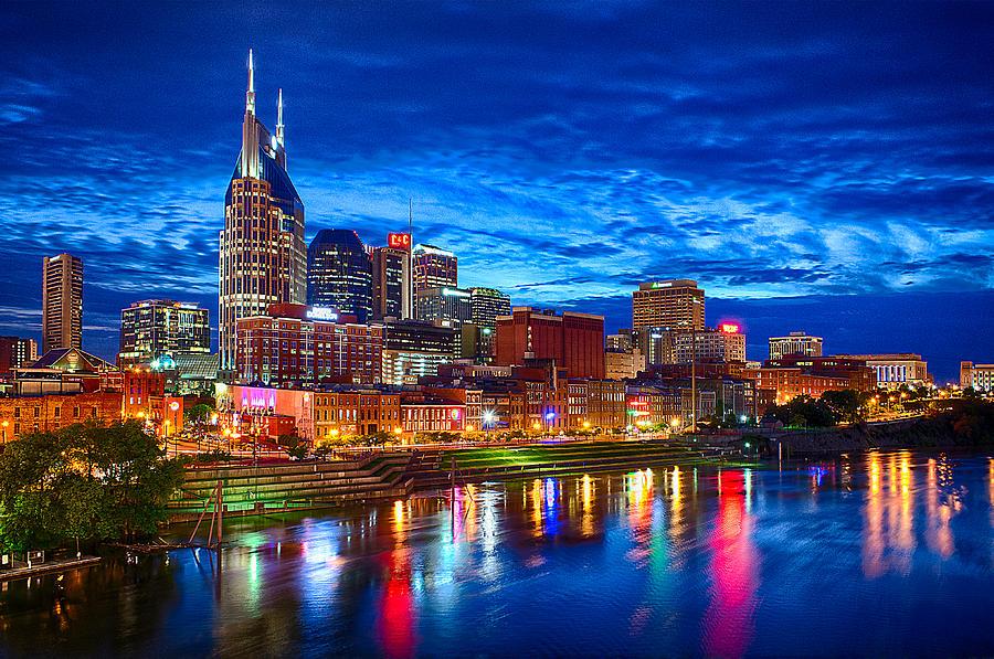 Nashville Photograph - Nashville Skyline by Dan Holland