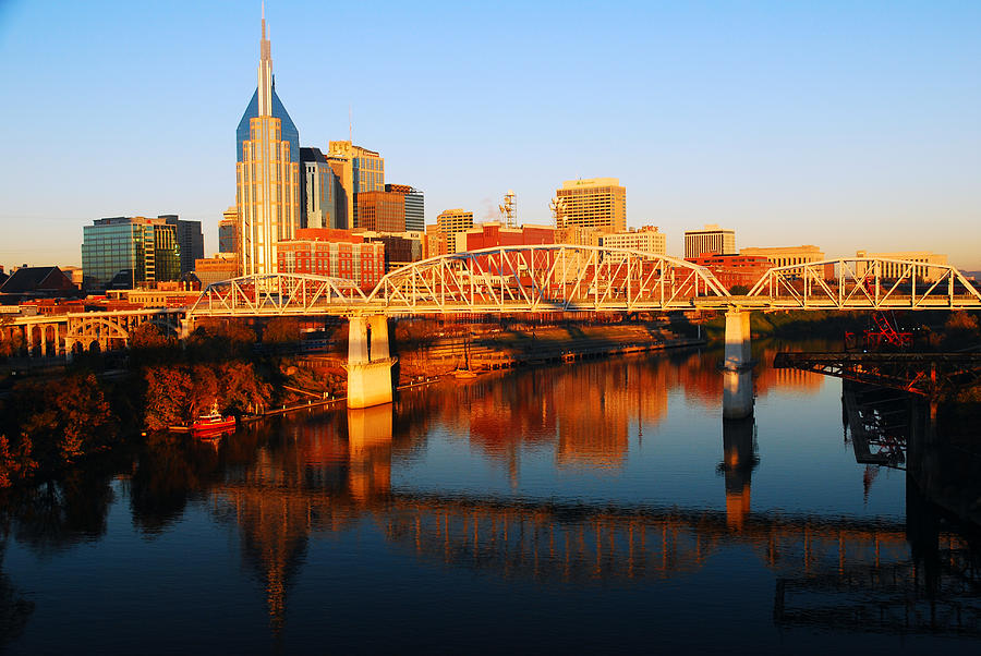 Nashville Photograph - Nashville Skyline by James Kirkikis