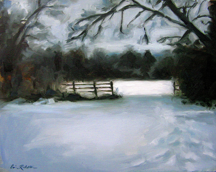 Nashvilles Winter Morning Painting