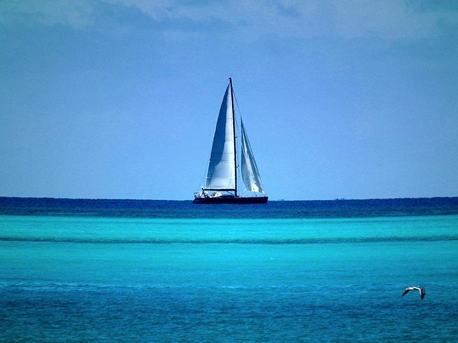 Nassau - Shades Of Blue Photograph by Genevieve Diamond - Nassau