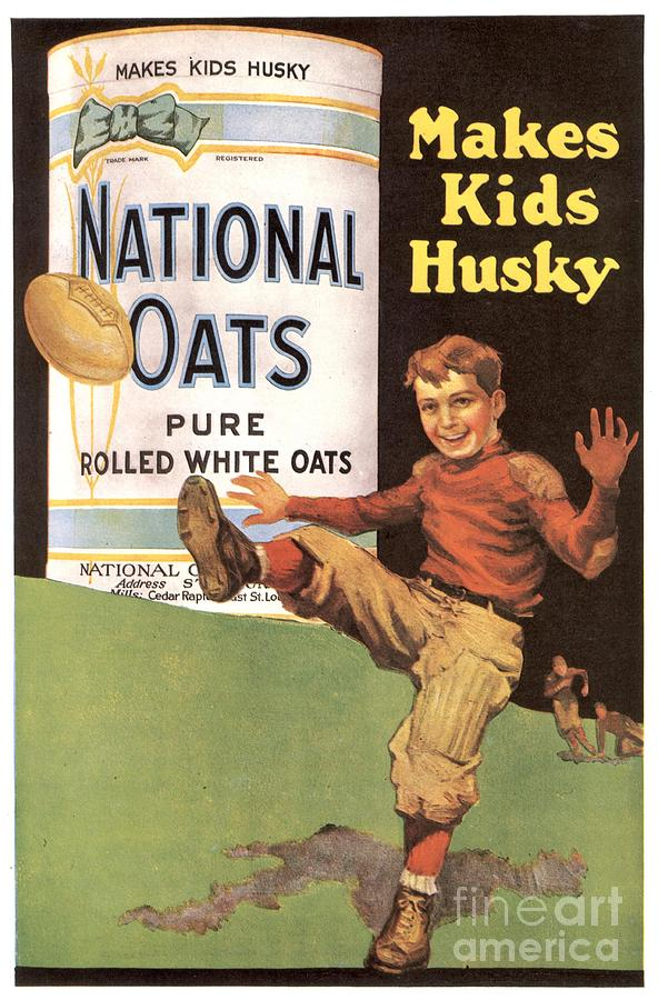 National Oats 1920s Usa Cereals Drawing