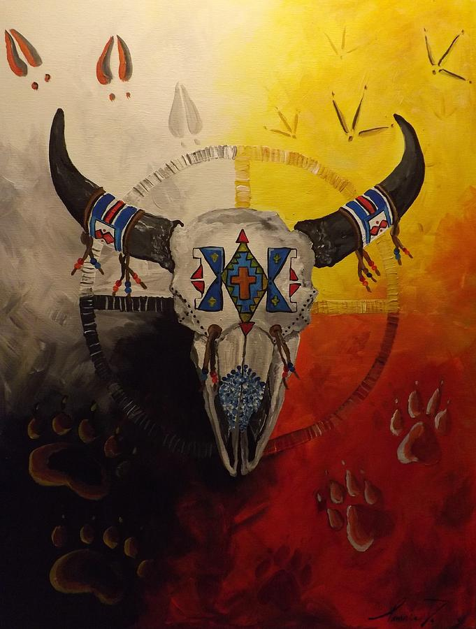 Native American Art Medicine Wheel Painting 18x24 Acrylic On Canvas ...