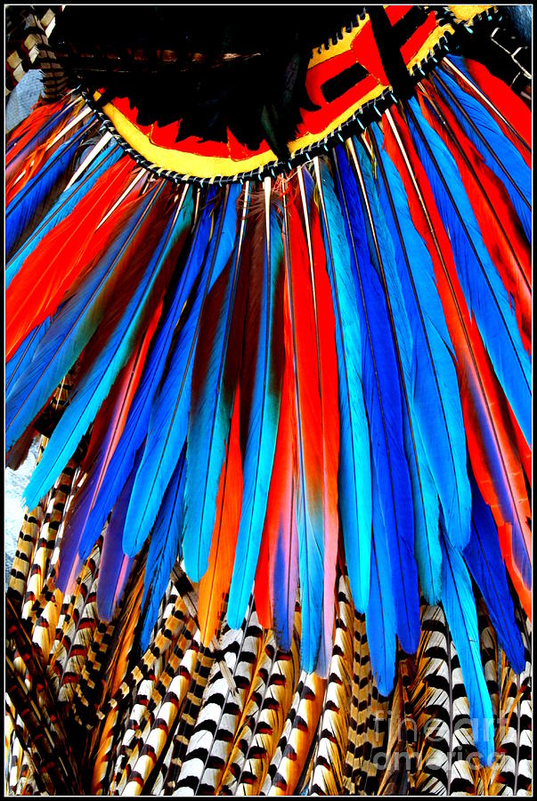 Native American Ceremonial Headpiece Photograph