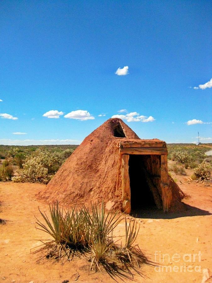 Native American Earth Lodge Photograph - Native American Earth Lodge by John Malone