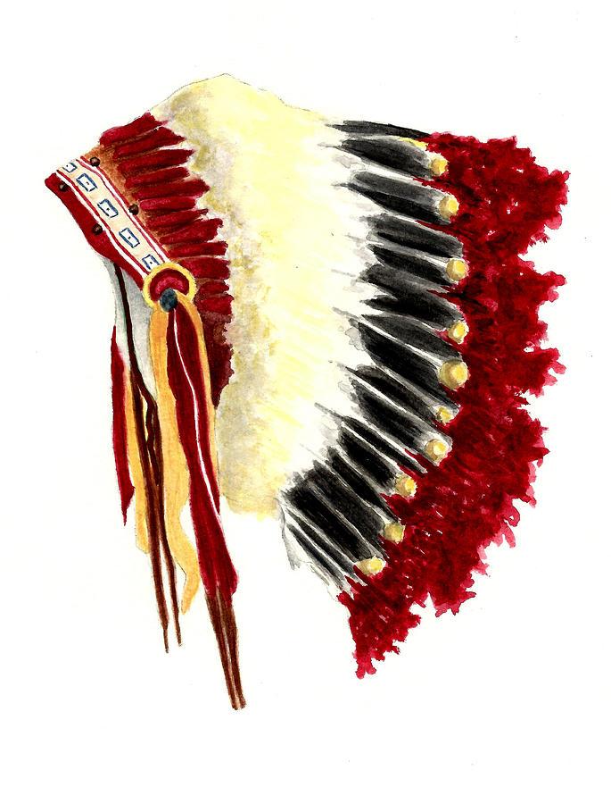 Native American Headdress Painting