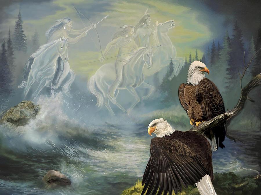 Native American Painting Spirit Riders Painting