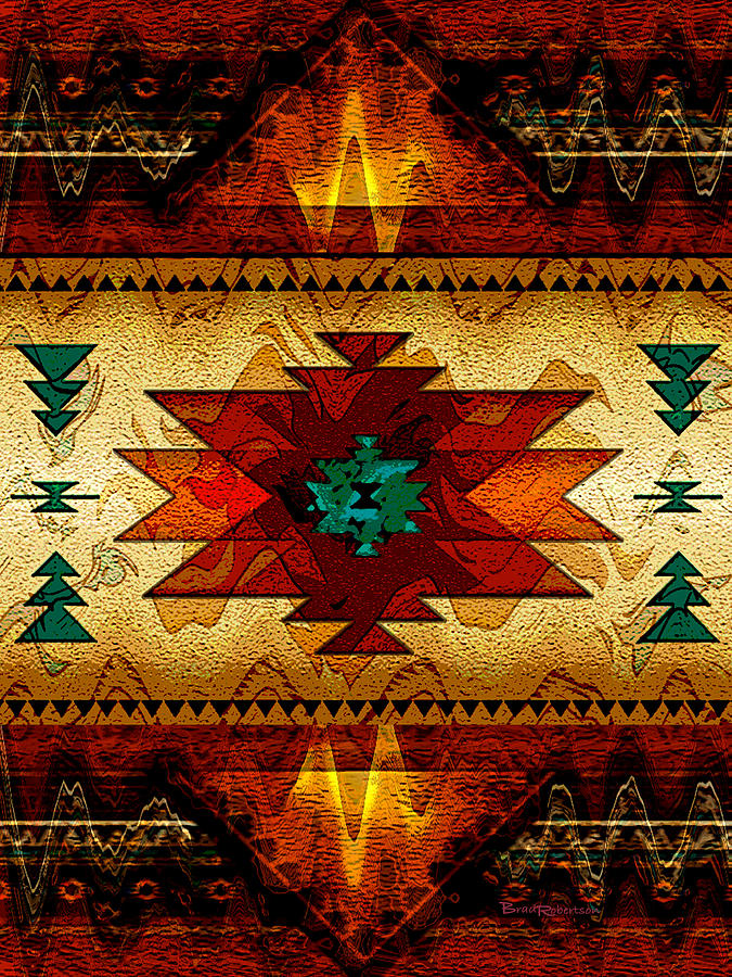Native american passion digital art for Posters art prints