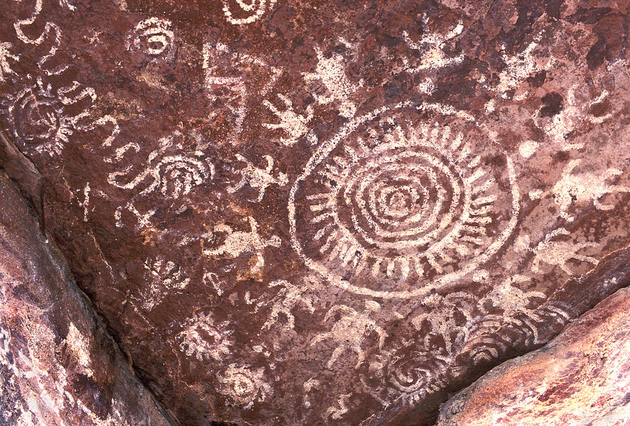 Native American Pictographs Photograph