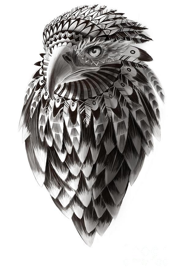 Native American Shaman Eagle Painting By Sassan Filsoof