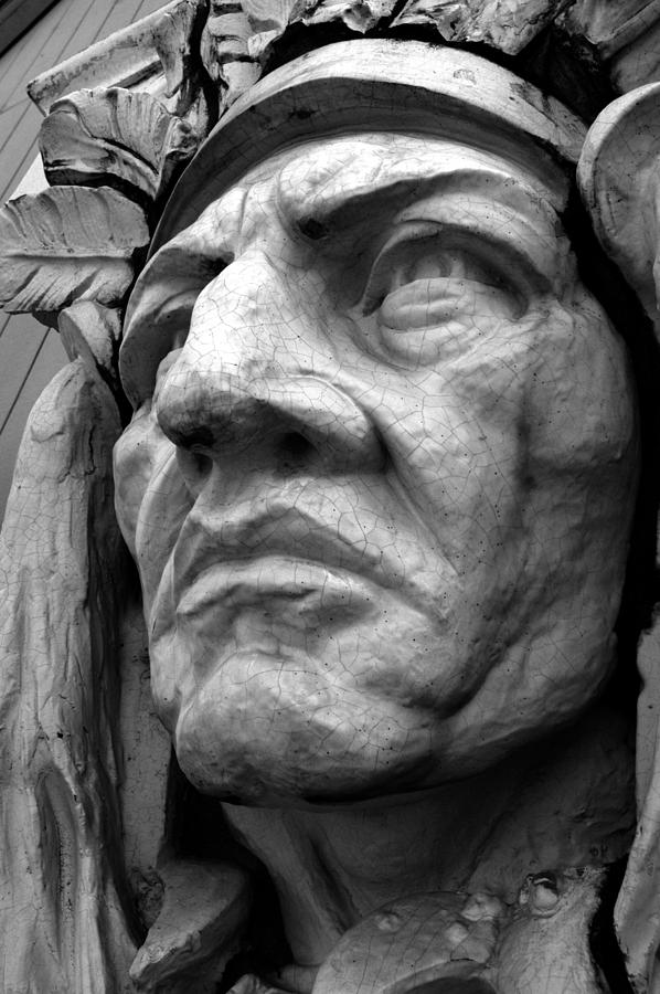 Native american stone carving photograph by glenn mcgloughlin