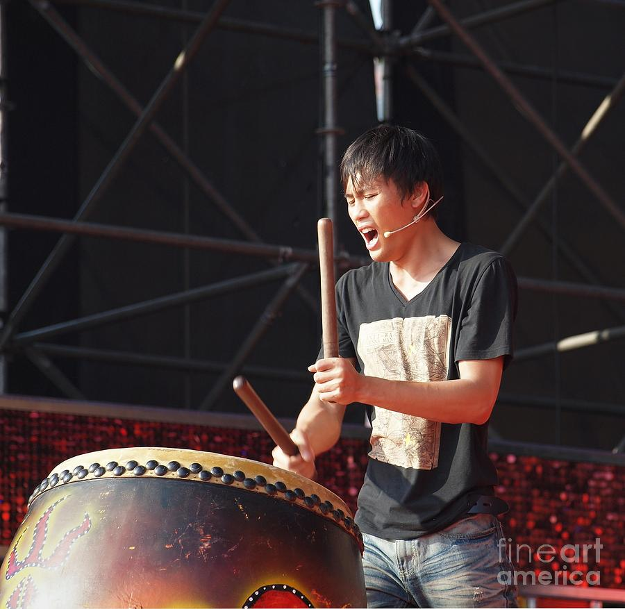 Native Drummer Performs In Taiwan Photograph