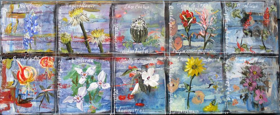 native Texas wildflowers A Painting