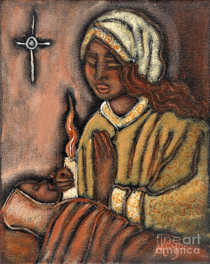 Christmas Painting - Nativity by Maya Telford
