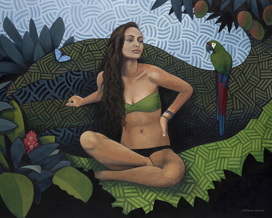 Woman Painting - Natural Beauty by Nathan Miller