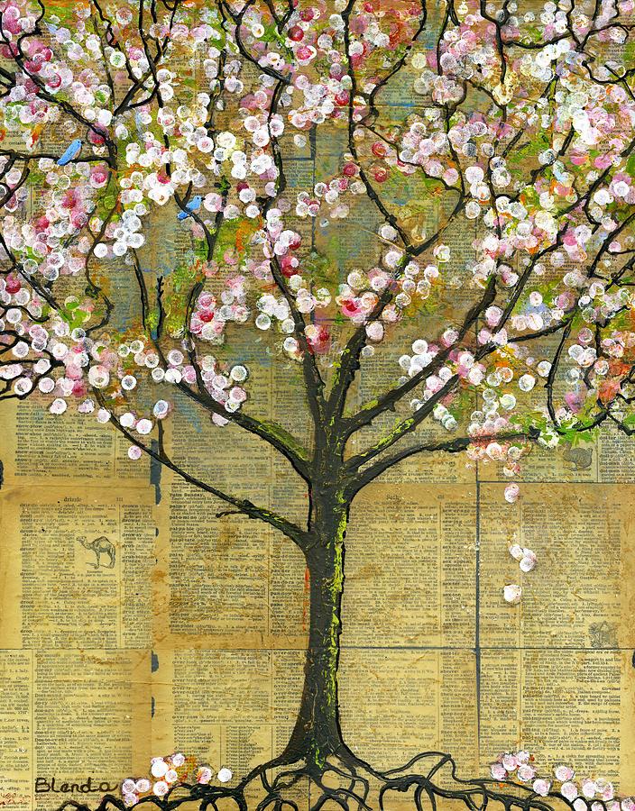 Artwork Painting - Nature Art Landscape - Lexicon Tree by Blenda Studio