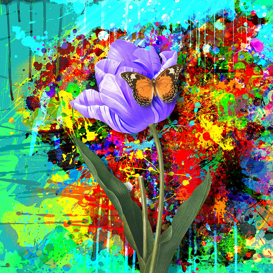 Nature Vs Caos Digital Art  - Nature Vs Caos Fine Art Print