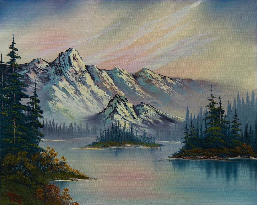 Landscape Painting - Natures Elegance by C Steele