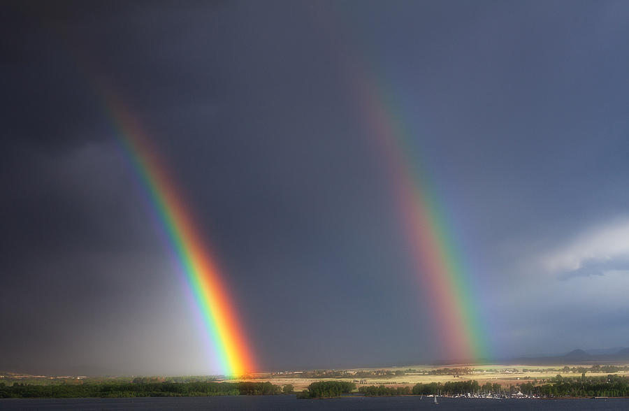Rainbows Photograph - Natures Twin Towers by Darren  White